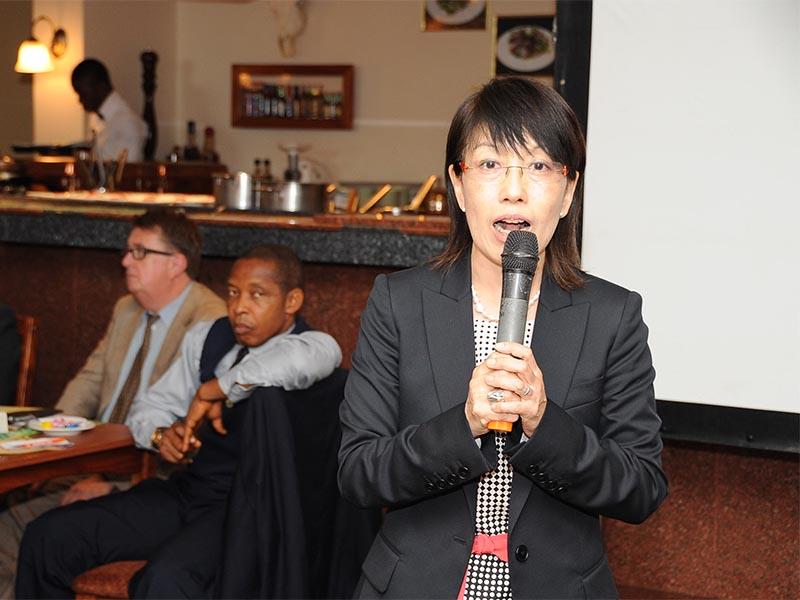 Dr. Kumiko Ninomiya; Director Umami Information Centre, Tokyo making her presentation